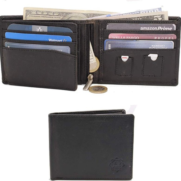 Birch Leathers Other - ⚠3/$9 NIB! Men's Tri-Fold Leather Wallet w/ RFID